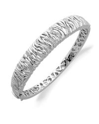 Lord & Taylor | Metallic Diamond And Sterling Silver Bracelet | Lyst