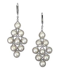 Effy | Metallic White Pearl And Sterling Silver Chandelier Drop Earrings | Lyst