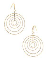 ABS By Allen Schwartz | Metallic Multi Wire Circle Earrings | Lyst
