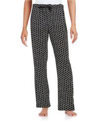 Calvin Klein | Black Patterned Pajama Pants | Lyst