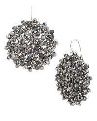 Kenneth Cole | Black Diamond-crystal Woven Drop Earrings | Lyst