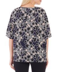 Lord & Taylor - Blue Box Top - Lyst