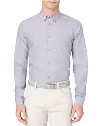 Calvin Klein | Purple Modern Fit Medium Grid Check Sportshirt for Men | Lyst