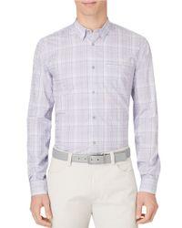 Calvin Klein | Purple Ombre Plaid Sportshirt for Men | Lyst