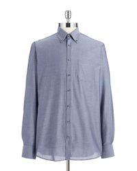 Bruun & Stengade | Blue Solid Sportshirt for Men | Lyst