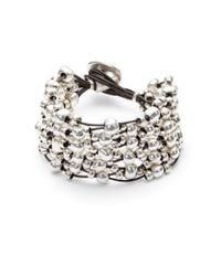 Uno De 50 | Metallic Leather And Bead Layered Bracelet | Lyst