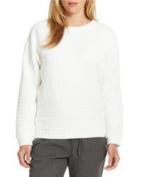 424 Fifth - White Textured Sweatshirt - Lyst