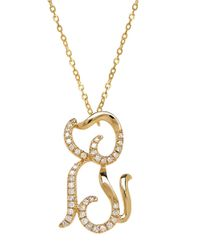 Lord & Taylor | Metallic 14k Yellow Gold Diamond Dog Necklace | Lyst