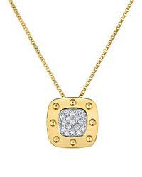 Roberto Coin | Metallic Pois Moi Diamond & 18k Yellow Gold Large Pendant Necklace | Lyst