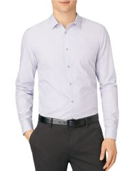 Calvin Klein | Purple Slim-fit Striped Sportshirt for Men | Lyst