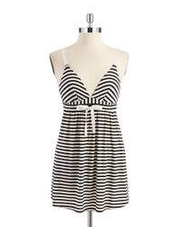 Splendid | Black Metallic Striped Chemise | Lyst