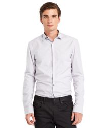 Kenneth Cole | White Slim Fit Check Sportshirt for Men | Lyst