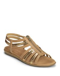Aerosoles | Metallic Clothesline Faux Leather Gladiator Sandals | Lyst
