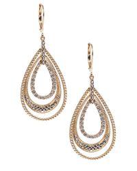 Judith Jack - Metallic 14k Gold And Swarovski Crystal Drop Earrings - Lyst