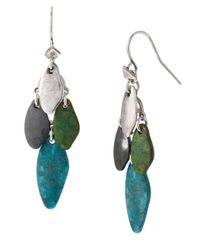 Robert Lee Morris | Blue Patina Mixed Bead Chandelier Earrings | Lyst