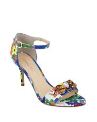 Ivanka Trump - Multicolor Gessa Embellished Open-toe Sandals - Lyst