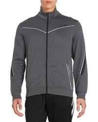 Calvin Klein | Gray Perforated Zip Jacket for Men | Lyst