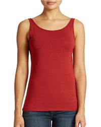 Lord & Taylor | Red Plus Iconic Fit Slimming Tank Top | Lyst