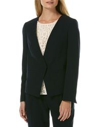 Laundry by Shelli Segal - Black Pleated-back Soft Jacket - Lyst