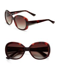Vince Camuto | Red 63.5mm Round Frame Sunglasses | Lyst