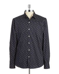7 Diamonds | Blue Cubed Sportshirt for Men | Lyst