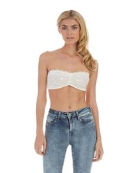 Free People | White Stretch Lace Bandeau | Lyst