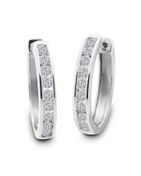 Lord & Taylor   Red Diamond And 14k White Gold Stud Earrings, 3 Tcw   Lyst