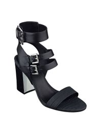 Marc Fisher | Natural Paige High-heel Leather Sandals | Lyst