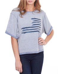 William Rast | Blue Flag Sweatshirt | Lyst
