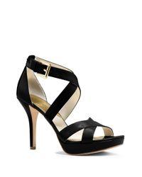 MICHAEL Michael Kors | Black Evie High Heeled Sandals | Lyst
