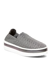 Steven by Steve Madden | Brown Signale Woven Platform Sneakers | Lyst