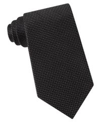 MICHAEL Michael Kors | Black Textured Silk Tie for Men | Lyst