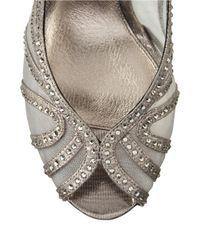Adrianna Papell - Metallic Fiji Embellished Slingback Pumps - Lyst
