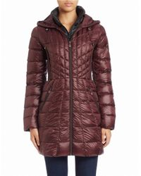 Bernardo | Purple Hooded Puffer Coat | Lyst