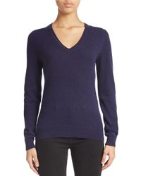 Lord & Taylor | Blue Plus Cashmere V-neck Sweater | Lyst