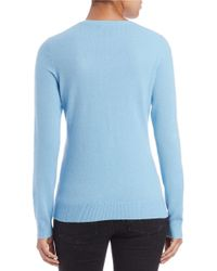 Lord & Taylor | Blue Plus Dip-dyed Cashmere Crewneck | Lyst