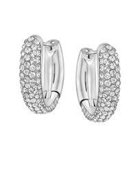 Swarovski | Metallic Crystal Hoop Earrings | Lyst