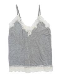 Flora Nikrooz | Gray Lace Trim Cami | Lyst
