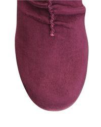 Aerosoles   Purple Good Role Faux Suede Boots   Lyst