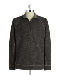 Tommy Bahama | Black Reversible Slubtropics Zip Sweater for Men | Lyst