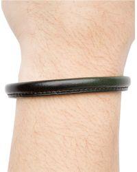 Hook + Albert | Green Leather Bangle Bracelet for Men | Lyst