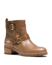 MICHAEL Michael Kors - Brown Gretchen Leather Ankle Boots - Lyst