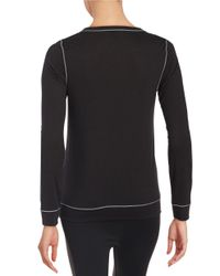 Calvin Klein Black Long Sleeve Knit Top