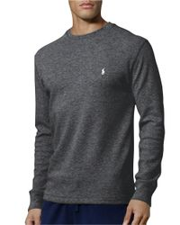Polo Ralph Lauren | Gray Thermal Top for Men | Lyst