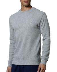 Polo Ralph Lauren Gray Thermal Top for men