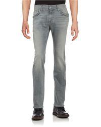 7 For All Mankind   Gray Standard Straight-leg Jeans for Men   Lyst