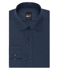 William Rast | Blue Textured Slim Fit Dress Shirt for Men | Lyst