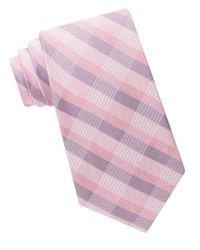 Calvin Klein | Purple Silk-blend Plaid Tie for Men | Lyst