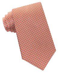 MICHAEL Michael Kors | Orange Chain Links Printed Silk Tie for Men | Lyst