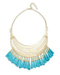 Lord & Taylor | Metallic Tassel-accented Tiered Statement Necklace | Lyst
